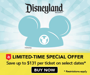 aRes Travel Special Offer with incredible savings of $131 per person for Disneyland Resort